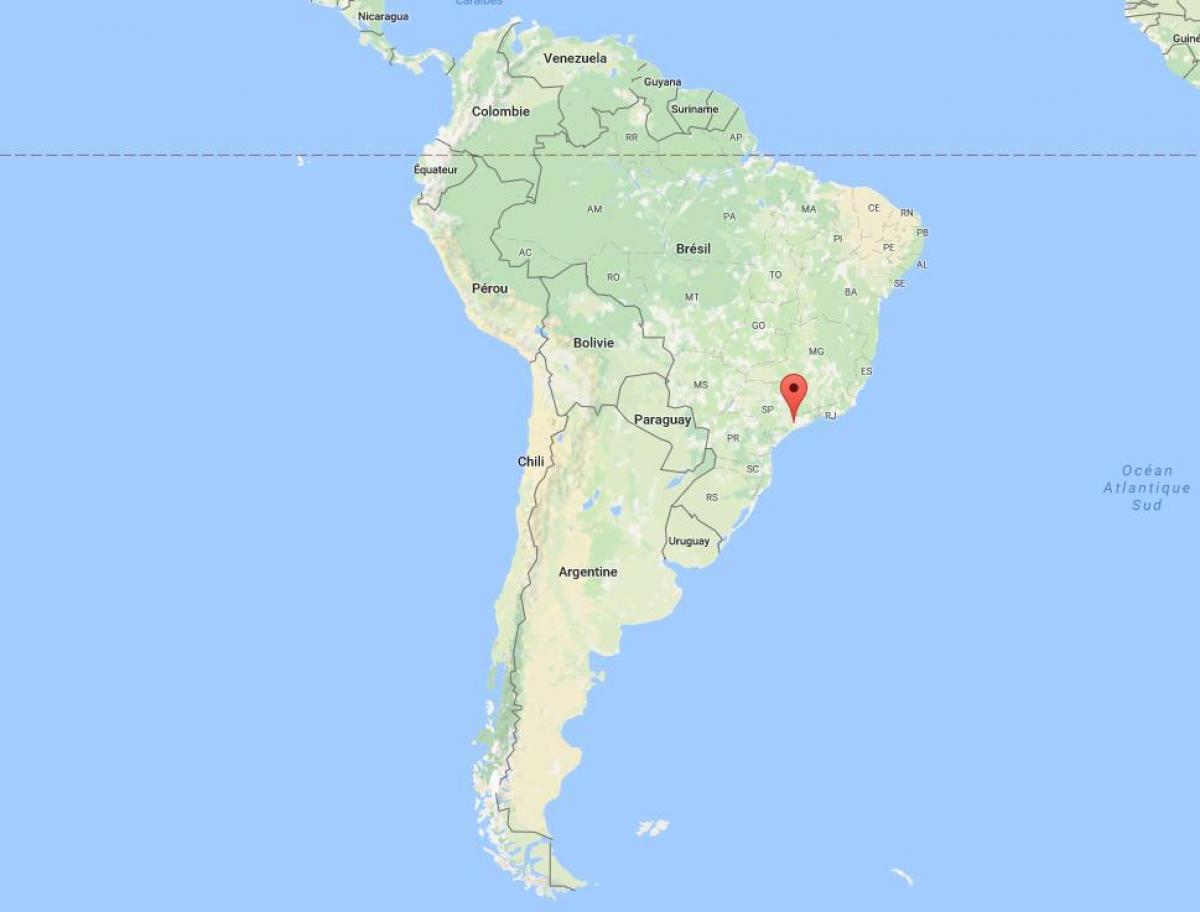 Sao Paulo In Sudamerika Landkarte Karte Von Sao Paulo In