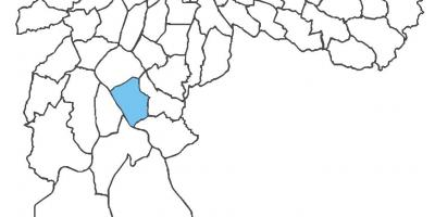 Karte von Campo Grande district